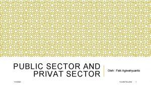 PUBLIC SECTOR AND PRIVAT SECTOR 1112020 Oleh Faik
