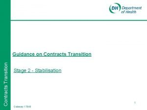Contracts Transition Guidance on Contracts Transition Stage 2