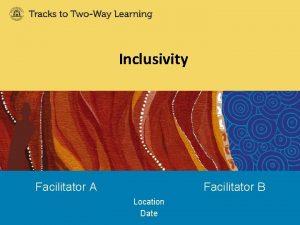 Inclusivity Facilitator A Facilitator B Location Date Workshop