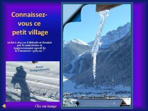 Connaissezvous ce petit village nich 1650 m daltitude