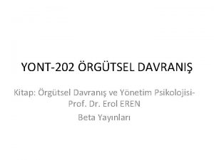 YONT202 RGTSEL DAVRANI Kitap rgtsel Davran ve Ynetim
