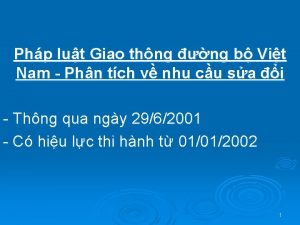 Php lut Giao thng ng b Vit Nam