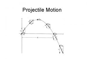 Projectile Motion Objects in projectile motion follow a