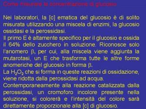 Come misurare la concentrazione di glucosio Nei laboratori