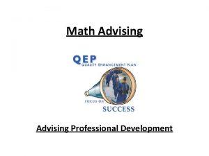 Math Advising Professional Development PCC Advising Moodle Site