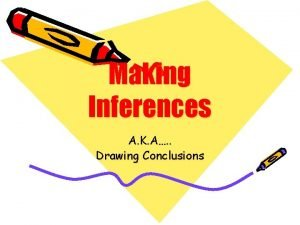 Making Inferences A K A Drawing Conclusions What