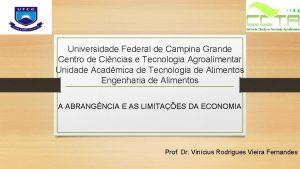 Universidade Federal de Campina Grande Centro de Cincias