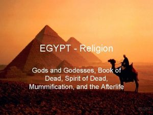 EGYPT Religion Gods and Godesses Book of Dead