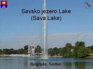 Savsko jezero Lake Sava Lake Belgrade Serbia The