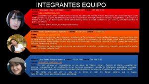 INTEGRANTES EQUIPO Nombre Alejandra Urrego Gonzlez Cdula 1