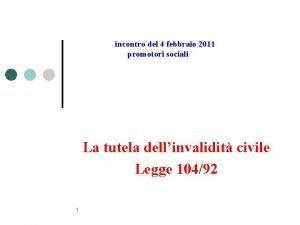 incontro del 4 febbraio 2011 promotori sociali La