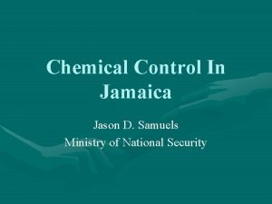 Chemical Control In Jamaica Jason D Samuels Ministry