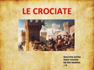 LE CROCIATE MACCHIA ILENIA MAIO ALESSIA DE NISI