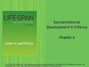 Socioemotional Development In Infancy Chapter 6 2013 by
