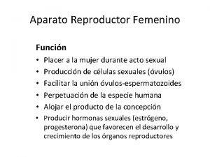 Aparato Reproductor Femenino Funcin Placer a la mujer