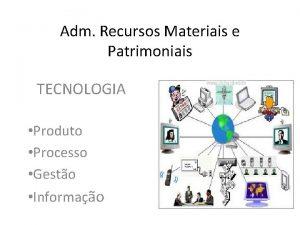 Adm Recursos Materiais e Patrimoniais TECNOLOGIA Produto Processo