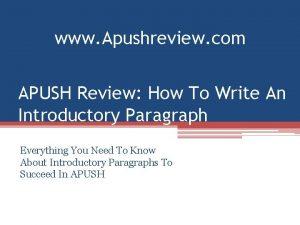 www Apushreview com APUSH Review How To Write