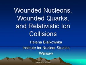 Wounded Nucleons Wounded Quarks and Relativistic Ion Collisions