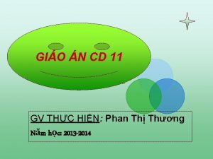 Gio GIO N n CD 11 GV THC
