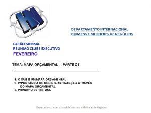 FEVEREIRO TEMA MAPA ORAMENTAL PARTE 01 1 O