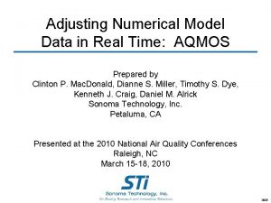 Adjusting Numerical Model Data in Real Time AQMOS