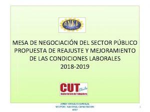 MESA DE NEGOCIACIN DEL SECTOR PBLICO PROPUESTA DE