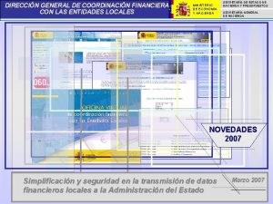 DIRECCIN GENERAL DE COORDINACIN FINANCIERA CON LAS ENTIDADES
