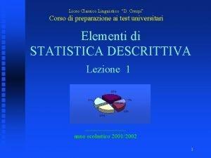 Liceo Classico Linguistico D Crespi Corso di preparazione