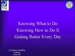 Knowing What to Do Knowing How to Do