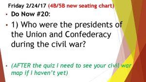 Friday 22417 4 B5 B new seating chart