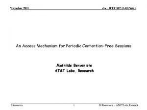 November 2001 doc IEEE 802 11 01569 r