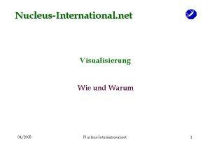 NucleusInternational net Visualisierung Wie und Warum 042008 NucleusInternational