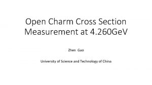 Open Charm Cross Section Measurement at 4 260