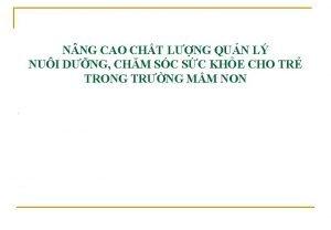 N NG CAO CHT LNG QUN L NUI