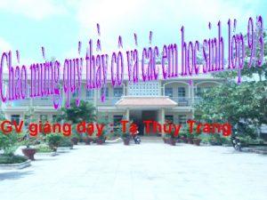 GV ging dy T Thy Trang Trnh bay