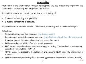 Probability JP Venn Diagrams A Venn diagram is