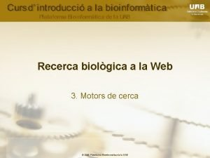 Recerca biolgica a la Web 3 Motors de