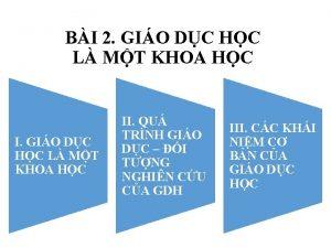 BI 2 GIO DC HC L MT KHOA