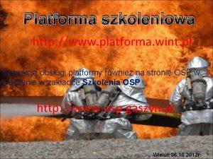 Platforma szkoleniowa http www platforma wint pl Instrukcja
