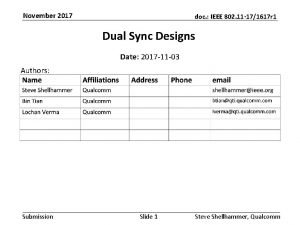 November 2017 doc IEEE 802 11 171617 r