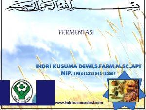FERMENTASI LOGO www indrikusumadewi com v Fermentasi fervere