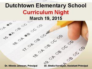 Dutchtown Elementary School Curriculum Night March 19 2015