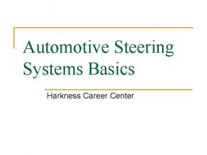 Automotive Steering Systems Basics Harkness Career Center Steering