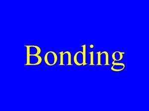 Bonding Types of Bonds Ionic Covalent Metallic Metallic
