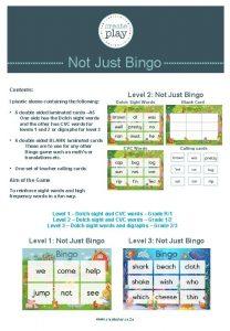 Not Just Bingo Contents Level 2 Not Just