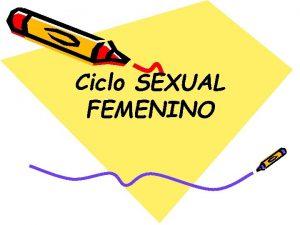 Ciclo SEXUAL FEMENINO ndice o Menstruacin o Ciclo