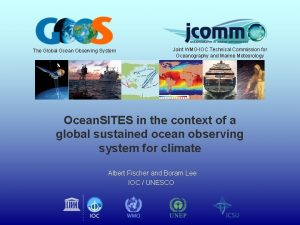 The Global Ocean Observing System Joint WMOIOC Technical