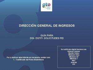 DIRECCIN GENERAL DE INGRESOS GUA PARA DGI DGTIT