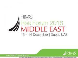 Achieving results through strategic ERM maturity Speakers Iman
