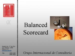 Balanced Scorecard Newton No 27 1 er Piso